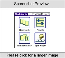 LingvoSoft FlashCards English  Estonian for Palm OS Software